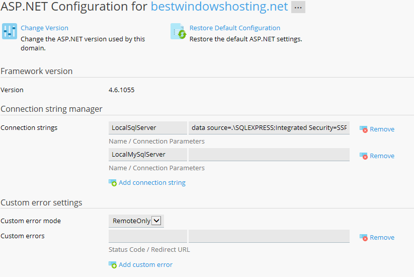 ASP.NET configurtion