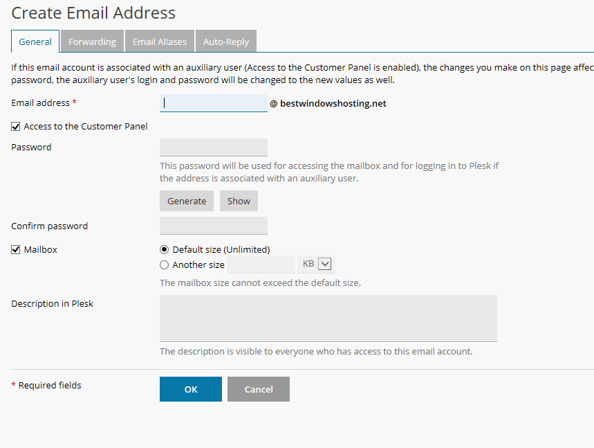 create email address